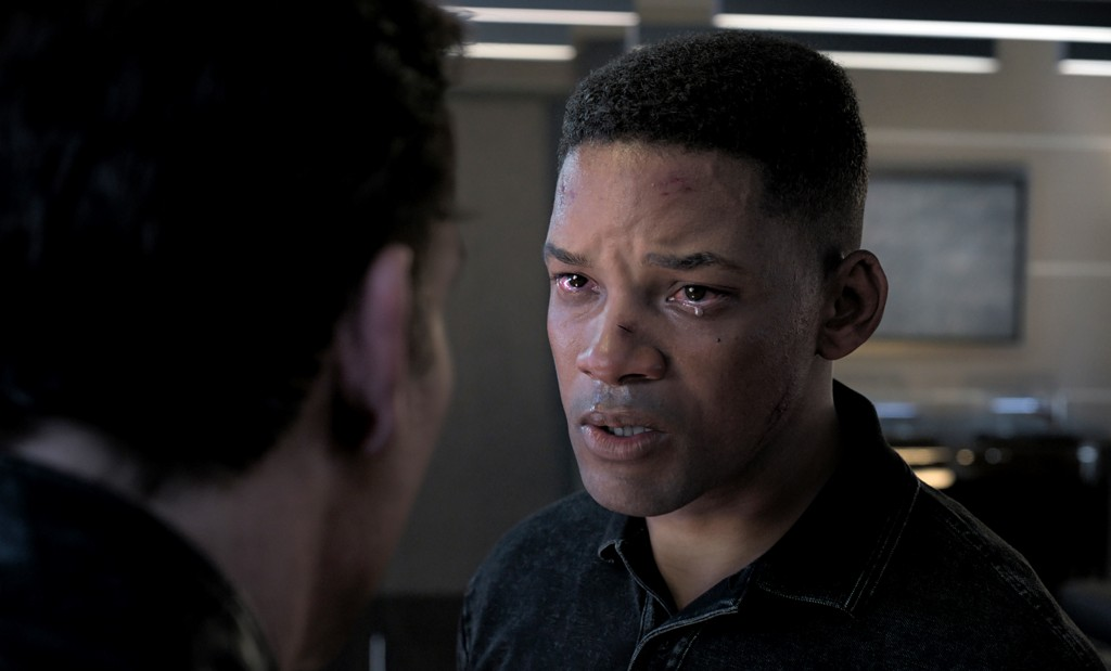 """This image released by Paramount Pictures shows Will Smith as Junior in a scene from """"Gemini Man."""" To create the character of Junior — a younger clone..."""