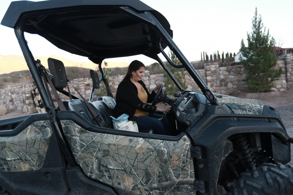 Loretta Miller, mother-in-law of Rhonita Miller who was murdered with four of her young children, drives in La Mora, Mexico, one day before the expect...