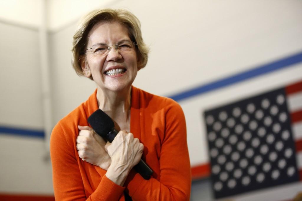Democratic presidential candidate Sen. Elizabeth Warren, D-Mass., speaks during a campaign event, Sunday, Jan. 12, 2020, in Marshalltown, Iowa. (AP Ph...