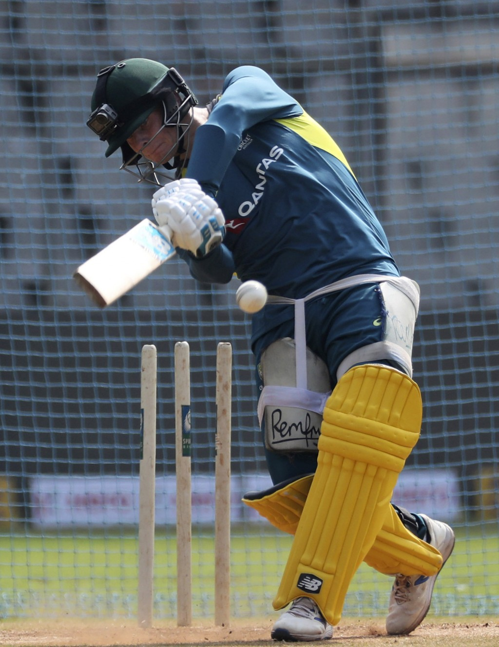 Australia's Steve Smith attends a training session ahead of their first one-day international cricket match against India in Mumbai, India, Monday, Ja...