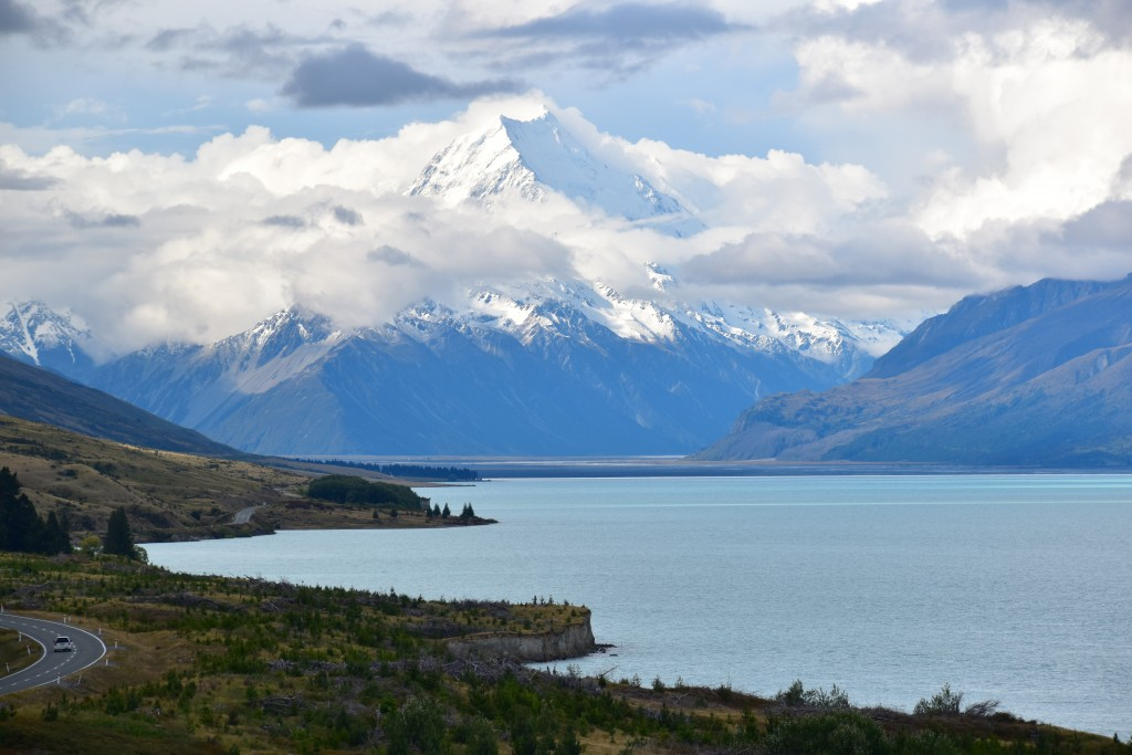 This Dec. 20, 2019, photo shows Mt. Cook rising above Lake Pukaki on the South Island of New Zealand. Mt. Cook is New Zealand's tallest mountain and i...