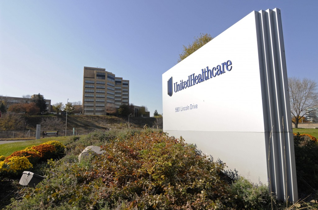 FILE - This Oct. 16, 2012, file photo, shows a portion of the UnitedHealth Group Inc.'s campus in Minnetonka, Minn. UnitedHealth Group reports financi...