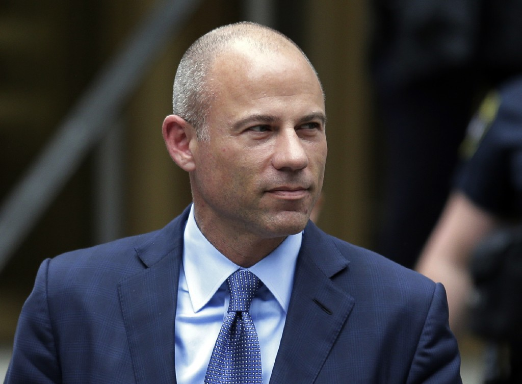 FILE - In this May 28, 2019, file photo, California attorney Michael Avenatti leaves a courthouse in New York following a hearing. Avenatti has been r...