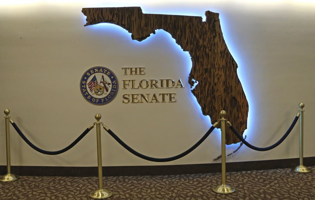 The Florida Senate remodeling includes this artwork on the fifth floor gallery photographed at the start of session on Tuesday Jan. 14, 2020, in Talla...