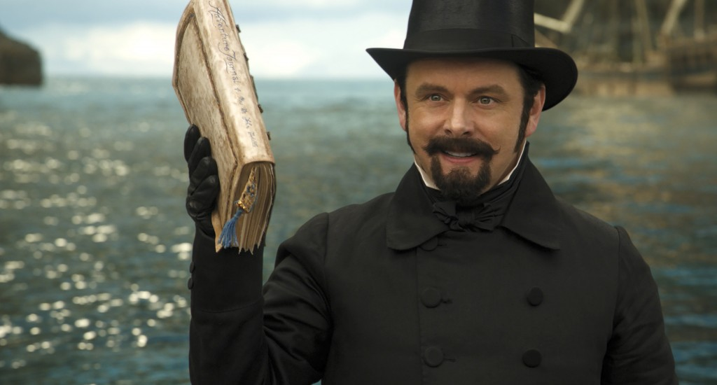 """This image released by Universal Pictures shows Michael Sheen in a scene from """"Dolittle.""""  (Universal Pictures via AP)"""