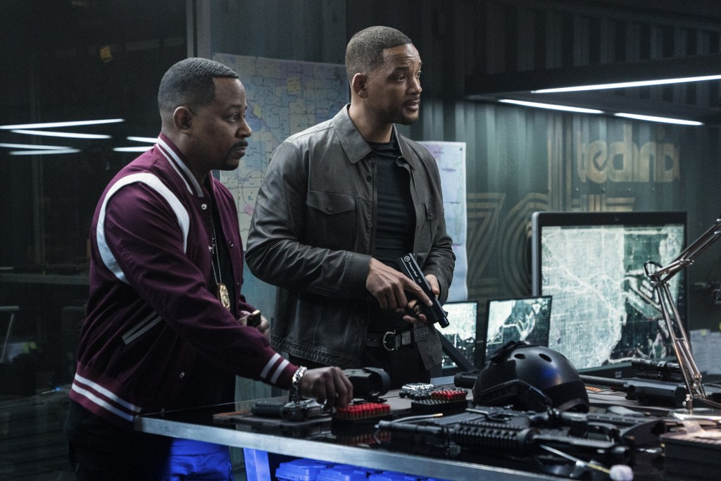 """This image released by Sony Pictures shows Martin Lawrence, left, and Will Smith in a scene from """"Bad Boys for Life."""" (Ben Rothstein/Columbia Pictures..."""