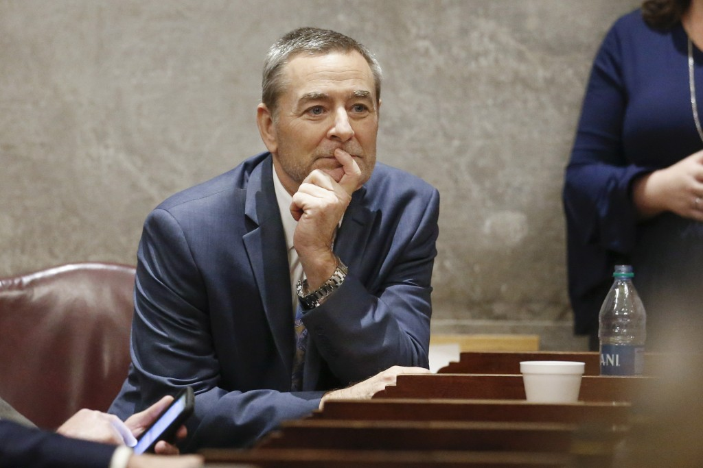 Rep. Glen Casada, R-Franklin, attends a House session on the first day of the 2020 legislative session Tuesday, Jan. 14, 2020, in Nashville, Tenn. Cas...