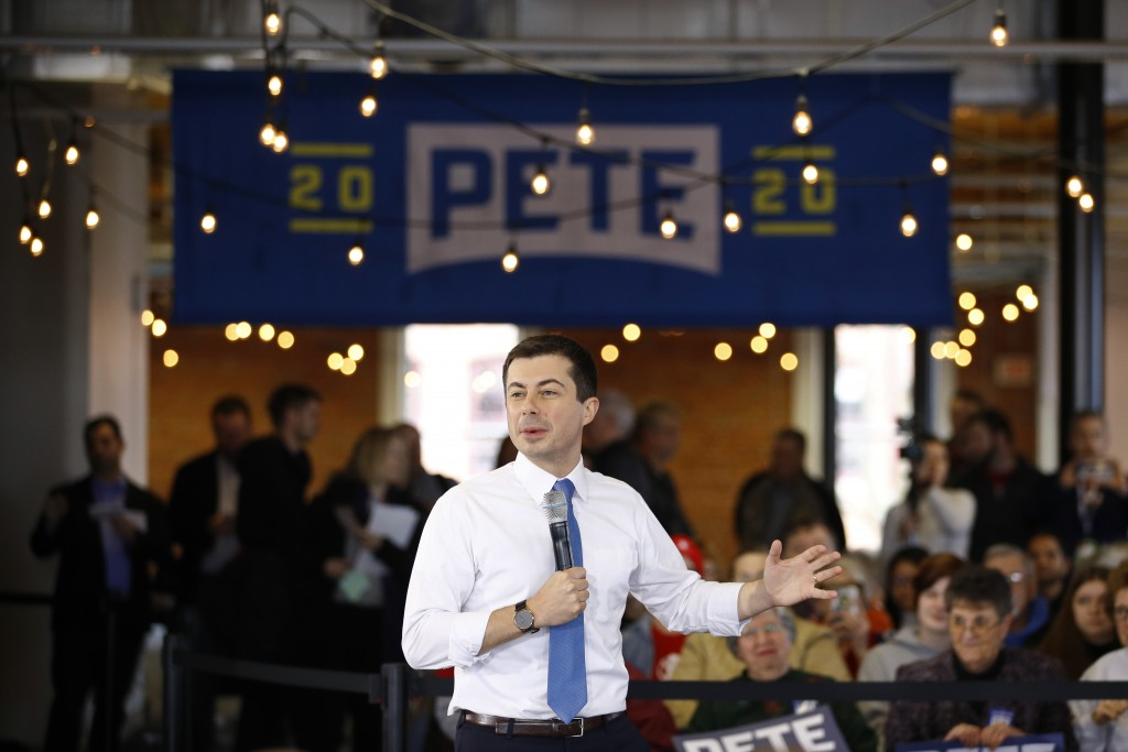 Democratic presidential candidate, former South Bend, Ind., Mayor Pete Buttigieg speaks during a campaign event, Wednesday, Jan. 15, 2020, in Newton, ...