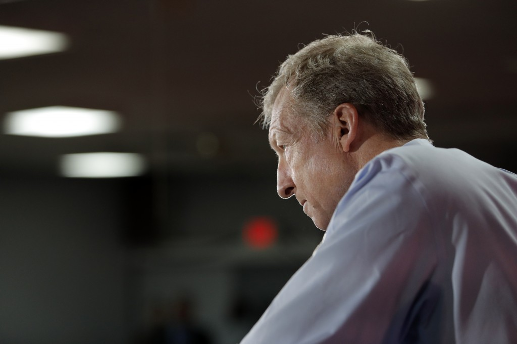 Democratic presidential candidate and businessman Tom Steyer listens to a question during an event at a Culinary Workers Union hall Thursday, Jan. 16,...