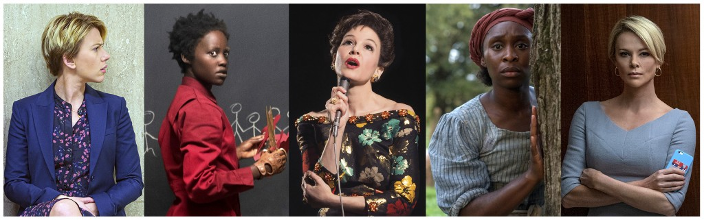 This combination of photos shows the Screen Actors Guild Award nominees for outstanding performance by a female actor in a leading role, from left, Sc...