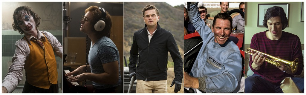This combination of photos shows the Screen Actors Guild Award nominees for outstanding performance by a male actor in a leading role, from left, Joaq...