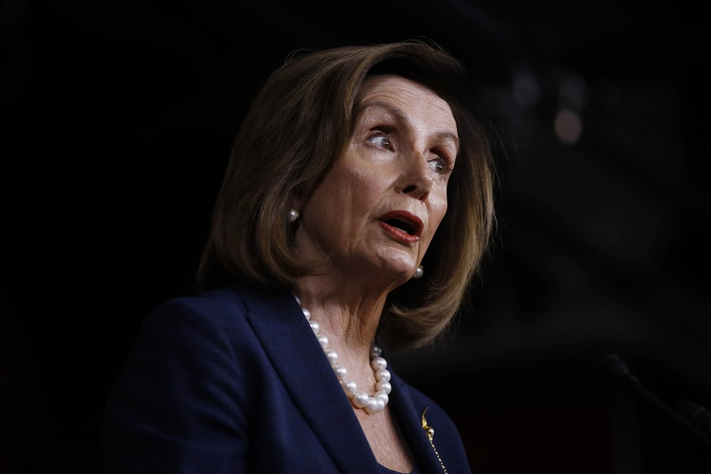Speaker of the House Nancy Pelosi of Calif., speaks during a news conference, on Capitol Hill in Washington, Thursday, Jan. 16, 2020. (AP Photo/Matt R...