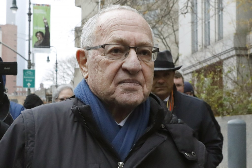 FILE - In this Dec. 2, 2019 file photo, Attorney Alan Dershowitz leaves federal court, in New York. President Donald Trump's legal team will include f...