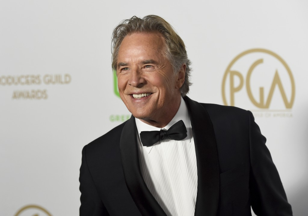Don Johnson arrives at the 2020 Producers Guild Awards at the Hollywood Palladium on Saturday, Jan. 18, 2020, in Los Angeles, Calif. (AP Photo/Chris P...