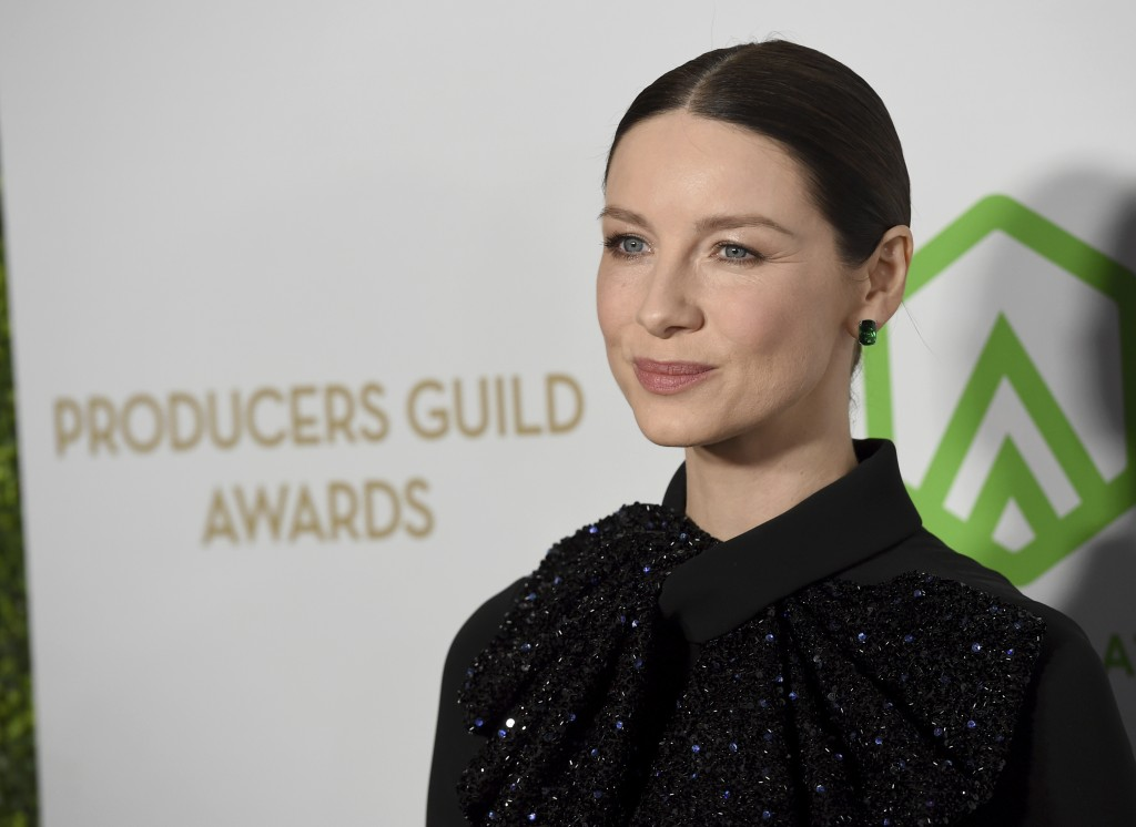 Caitriona Balfe arrives at the 2020 Producers Guild Awards at the Hollywood Palladium on Saturday, Jan. 18, 2020, in Los Angeles, Calif. (AP Photo/Chr...