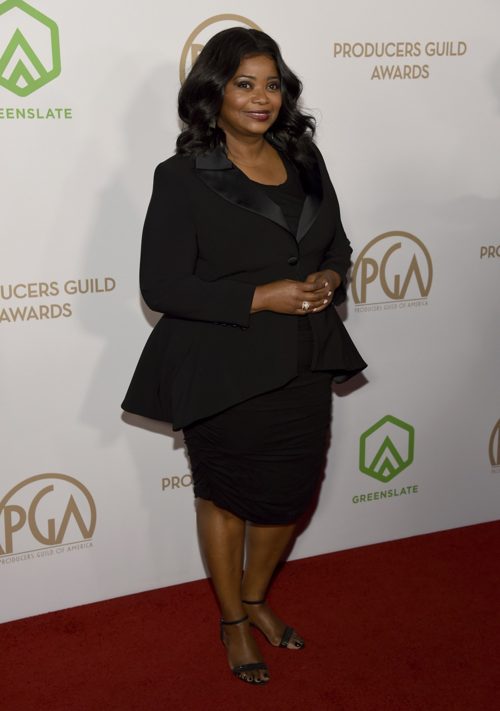 Octavia Spencer arrives at the 2020 Producers Guild Awards at the Hollywood Palladium on Saturday, Jan. 18, 2020, in Los Angeles, Calif. (AP Photo/Chr...