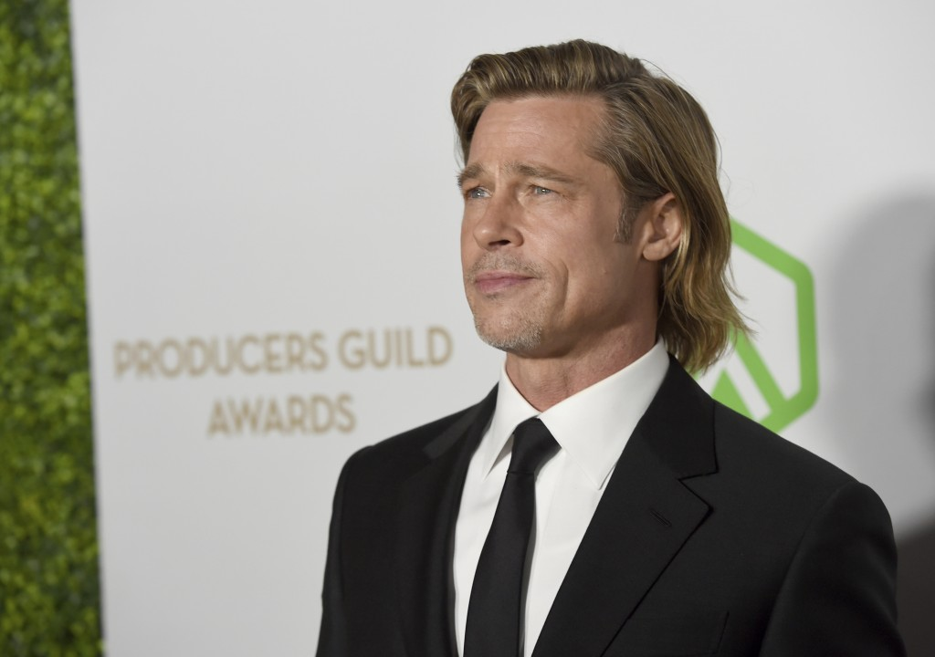 Brad Pitt arrives at the 2020 Producers Guild Awards at the Hollywood Palladium on Saturday, Jan. 18, 2020, in Los Angeles, Calif. (AP Photo/Chris Piz...