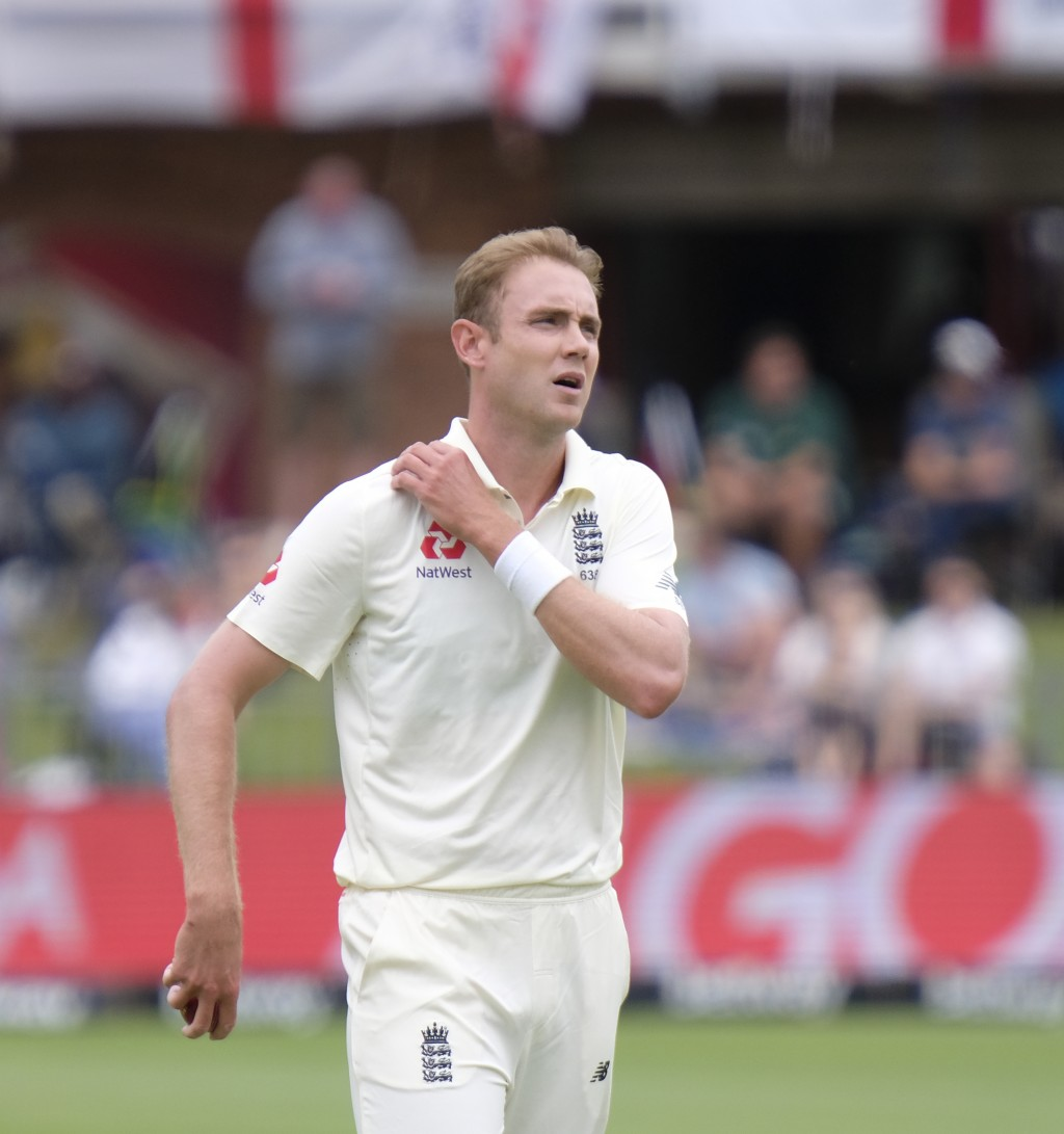 Stuart Board Bowler of England walks towards his mark before he bowls during day four of the third cricket test between South Africa and England in Po...