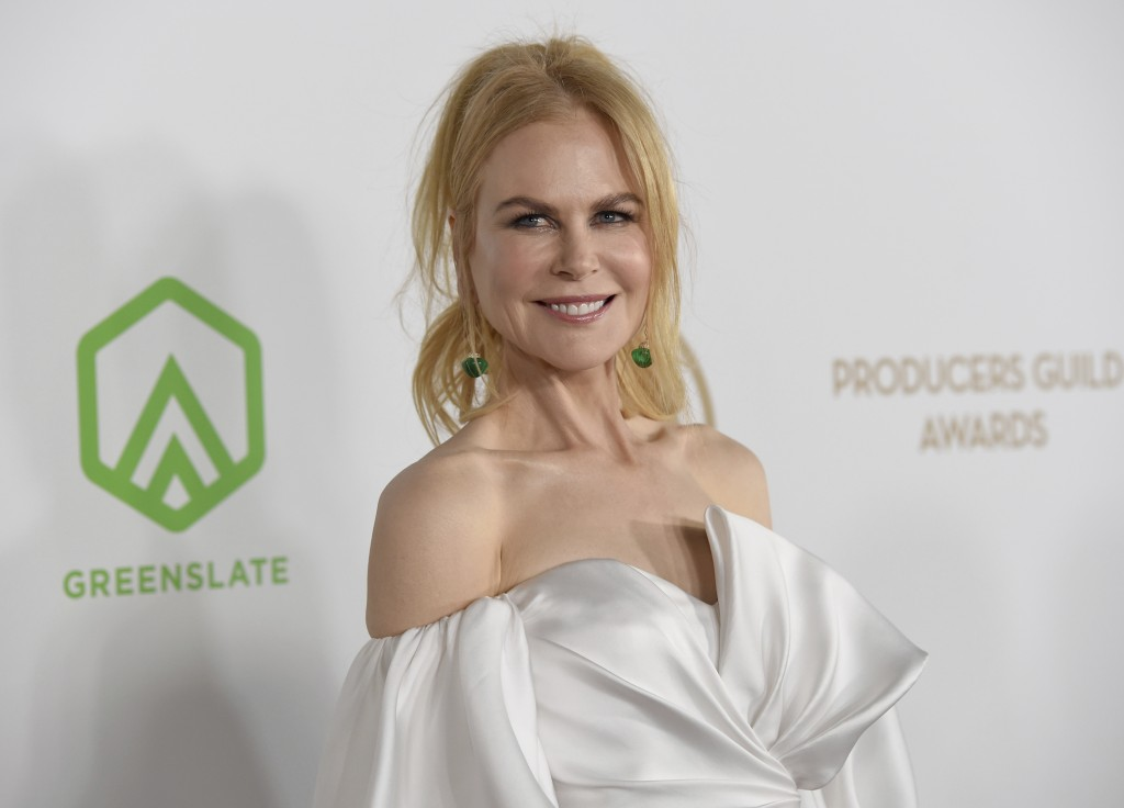 Nicole Kidman arrives at the 2020 Producers Guild Awards at the Hollywood Palladium on Saturday, Jan. 18, 2020, in Los Angeles, Calif. (AP Photo/Chris...