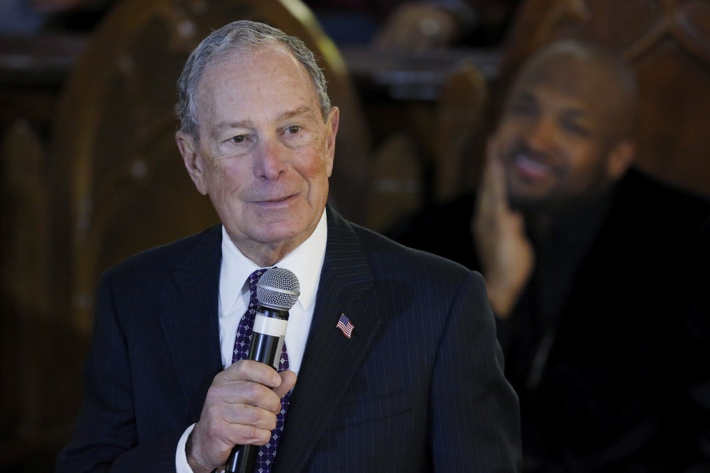 Democratic Presidential candidate Michael Bloomberg speaks during a service at the Vernon American Methodist Episcopal Church in Tulsa, Okla., Sunday,...