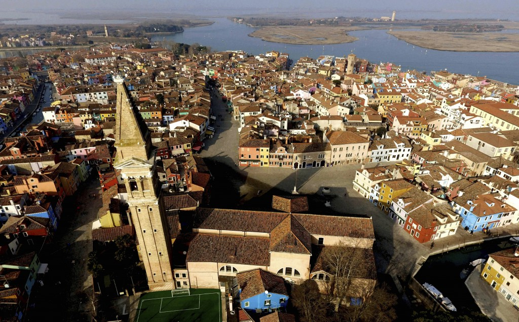 This image taken on Thursday, Jan. 16, 2020, shows an overview of the Burano island, Italy. The Venetian island of Burano's legacy as a fishing villag...