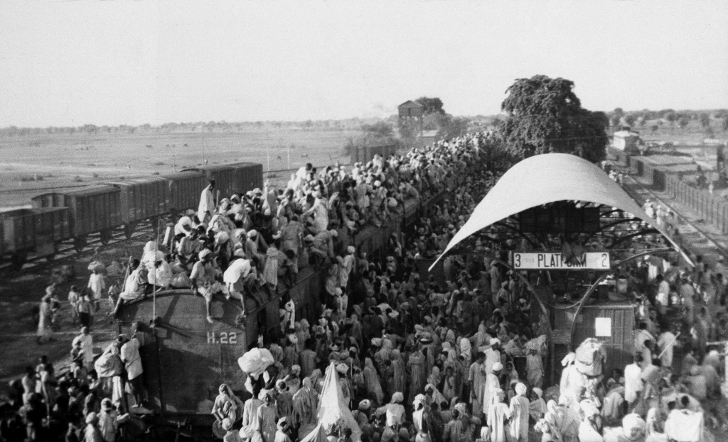 In this Sept, 27, 1947, file photo, Muslim refugees crowd onto a train bound for Pakistan, as it leaves the New Delhi, India area. India has been embr...