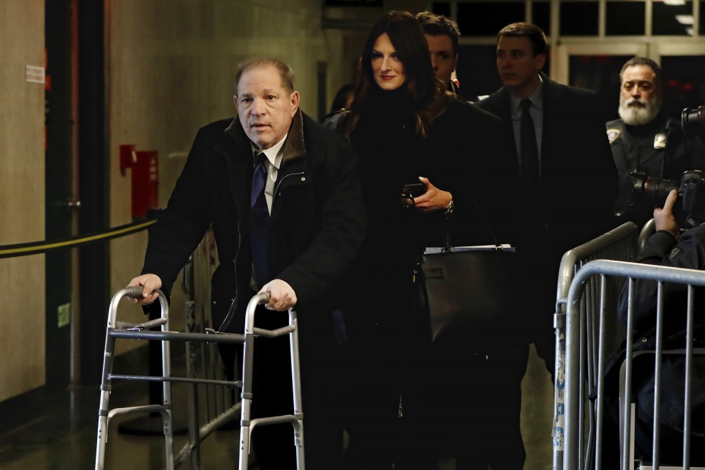 Harvey Weinstein, followed by his attorney Donna Rotunno, leaves court during his rape trial, Tuesday, Jan. 21, 2020, in New York. (AP Photo/Richard D...