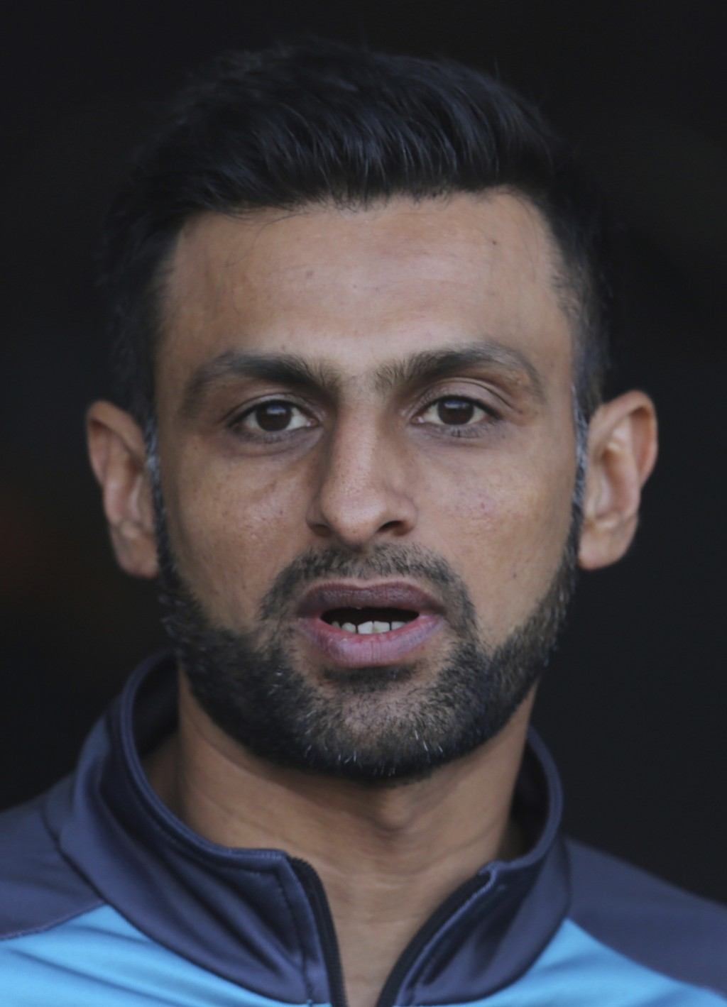 Pakistan allrounder Shoaib Malik gestures addresses a press conference in Lahore, Pakistan, Wednesday Jan. 22, 2020. Malik said he wants to focus on t...