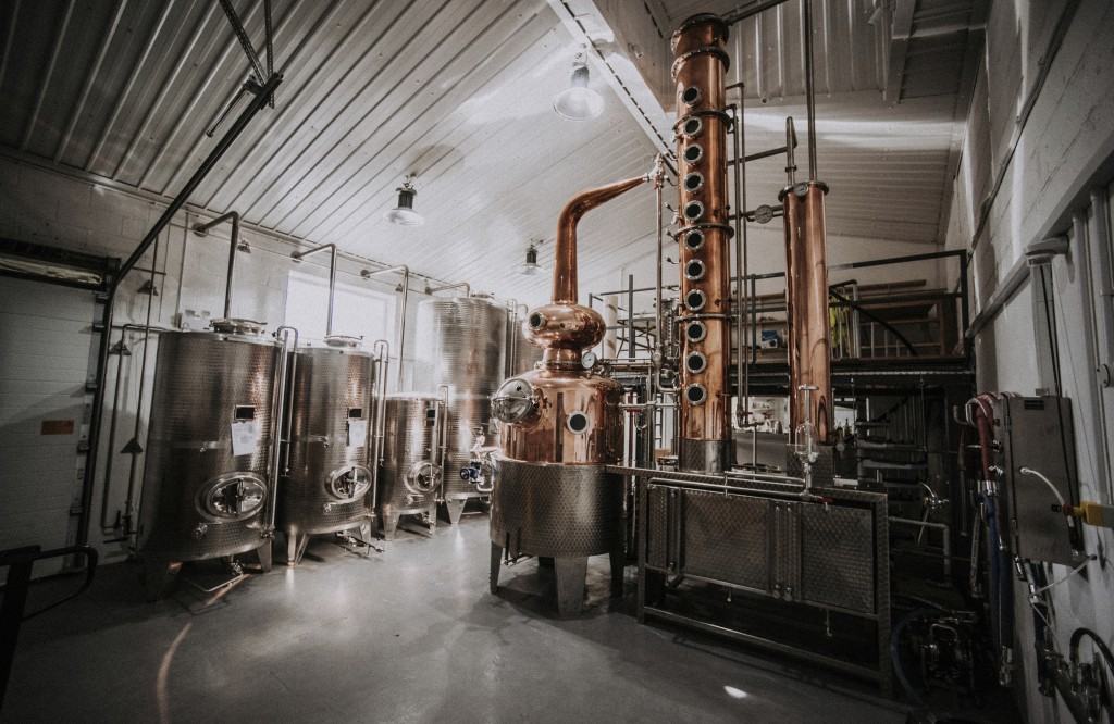 The Black Cow Distillery in Beaminster, south England in April 2017. Many people now like to know more about their food and drink and where it comes f...