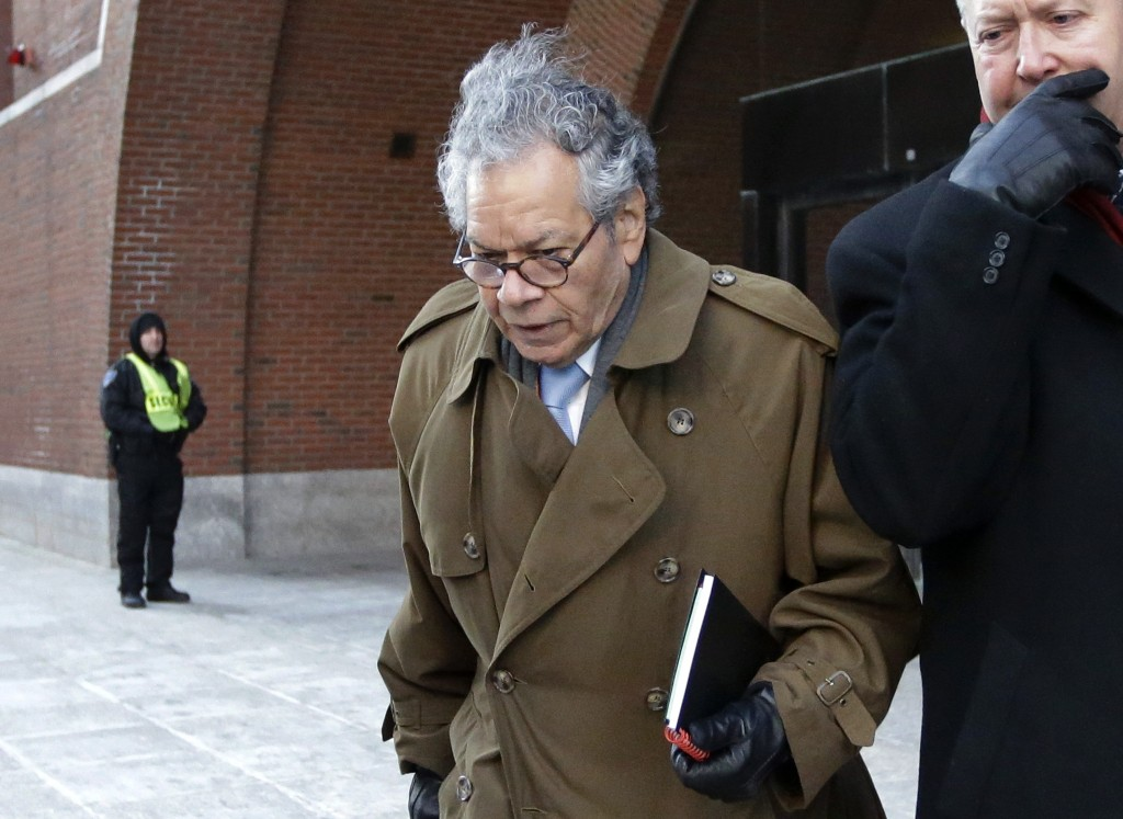 FILE - In this Jan. 30, 2019, file photo, Insys Therapeutics founder John Kapoor leaves federal court in Boston. Kapoor is scheduled to be sentenced i...