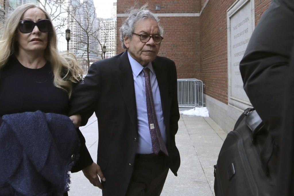 Insys Therapeutics founder John Kapoor arrives for sentencing at federal court on Thursday, Jan. 23, 2020, in Boston. Kapoor was convicted in a briber...