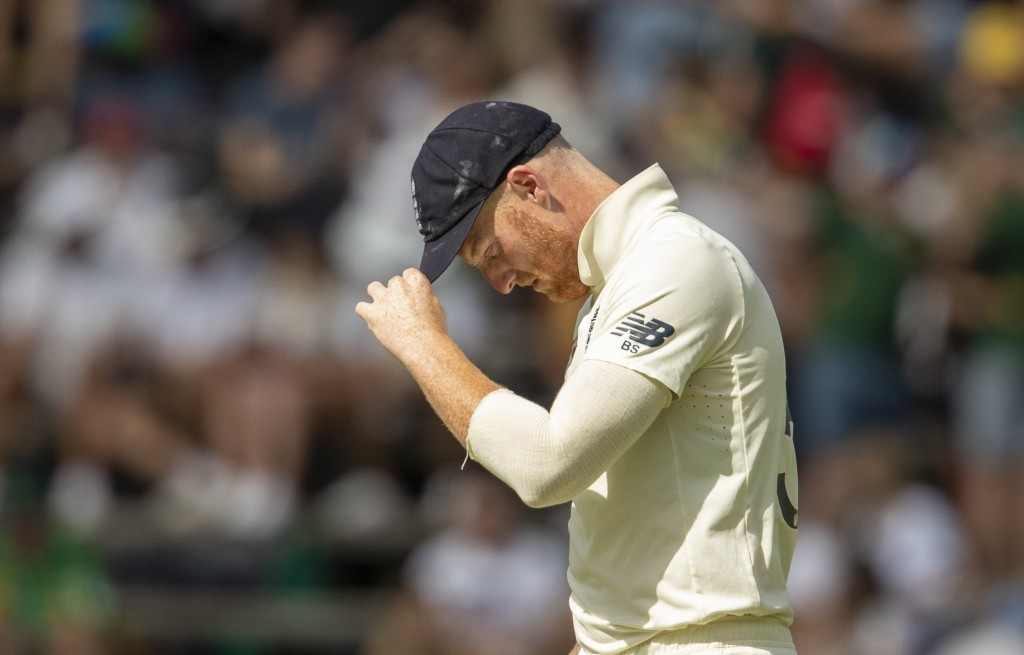 England's bowler Ben Stokes during day two of the fourth cricket test match between South Africa and England at the Wanderers stadium in Johannesburg,...