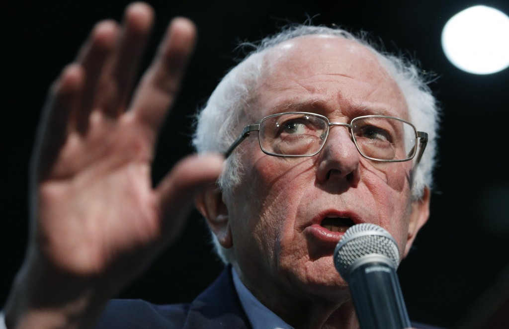 Democratic presidential candidate Sen. Bernie Sanders, I-Vt., speaks at a campaign rally Sunday, Jan. 26, 2020, in Sioux City, Iowa. (AP Photo/John Lo...
