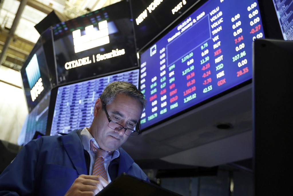 USA stocks tumble amid global sell-off; Dow falls 410