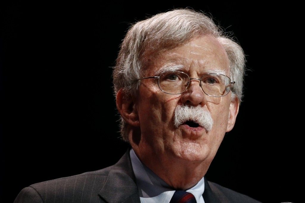 FILE - In this July 8, 2019, file photo, national security adviser John Bolton speaks at the Christians United for Israel's annual summit, in Washingt...