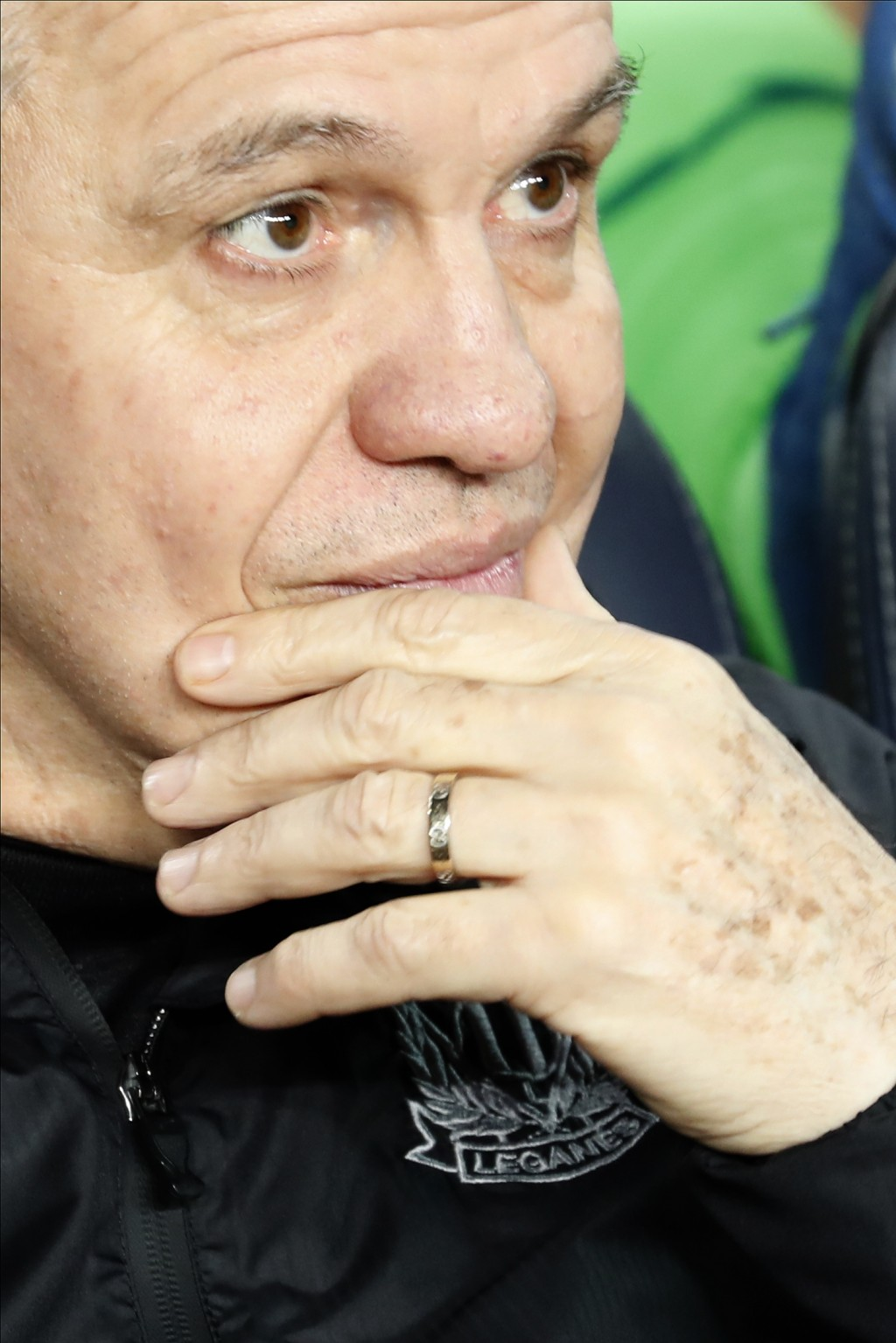 Leganes' head coach Javier Aguirre gestures prior of a Spanish Copa del Rey soccer match between Barcelona and Leganes at the Camp Nou stadium in Barc...