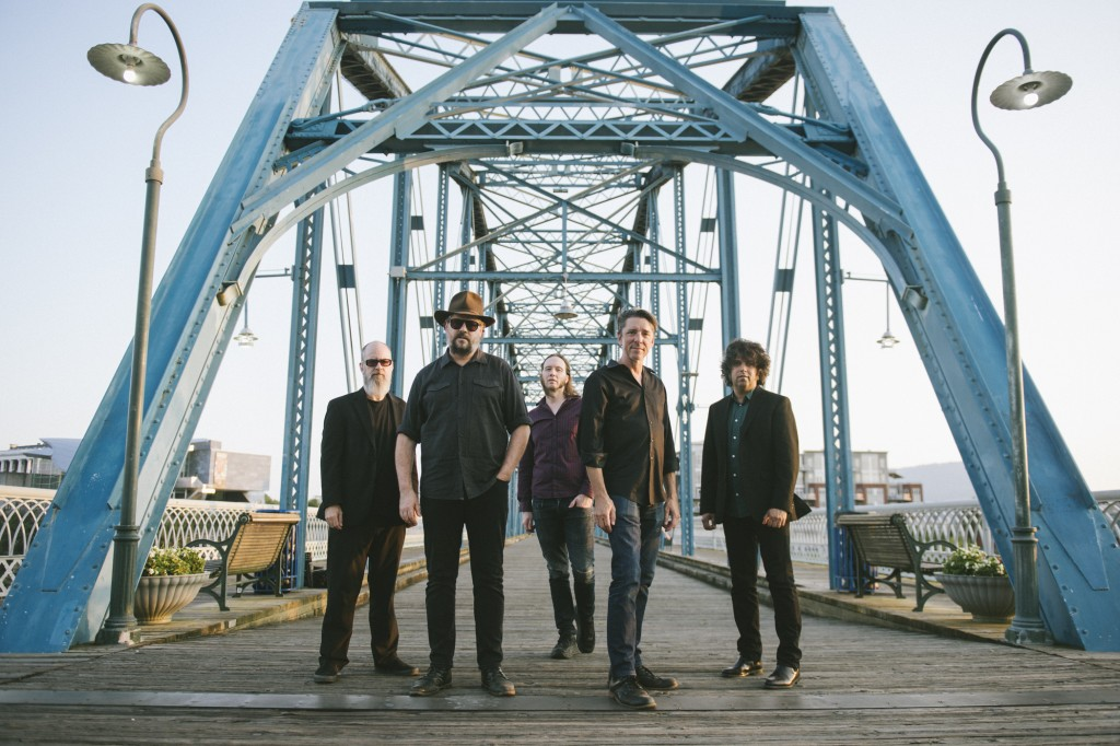 This image released by Big Hassle shows members of Drive-By Truckers, from left, Brad Morgan, Patterson Hood, Matt Patton, Mike Cooley and Jay Gonzale...