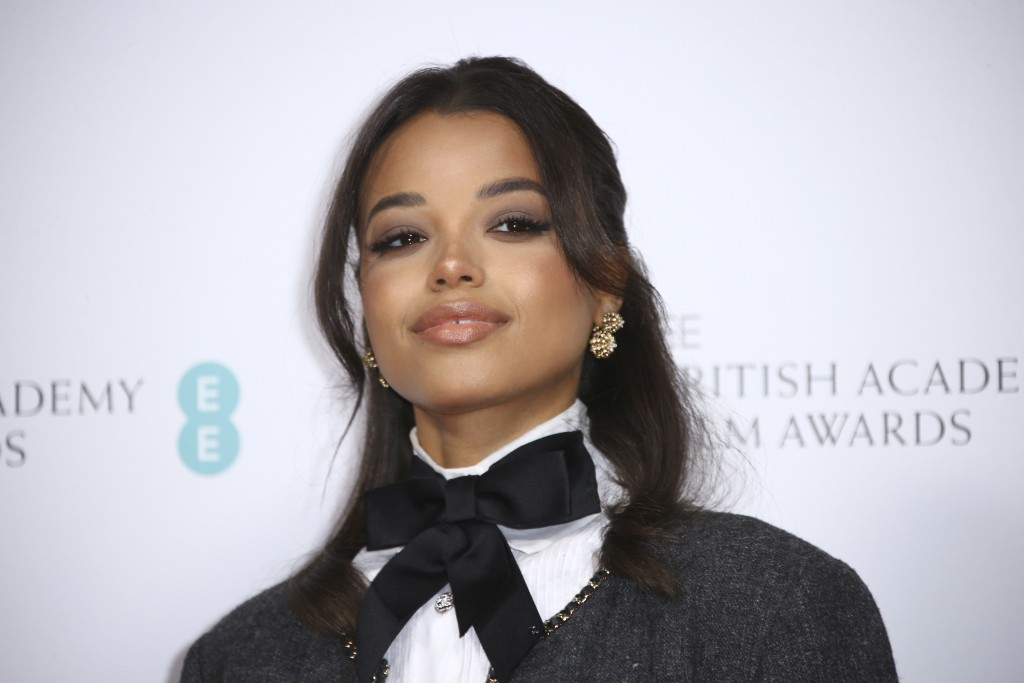 Actress Ella Balinska poses for photographers upon arrival at the Bafta Nominees Party, in central London, Saturday, Feb. 1, 2020. (Photo by Joel C Ry...
