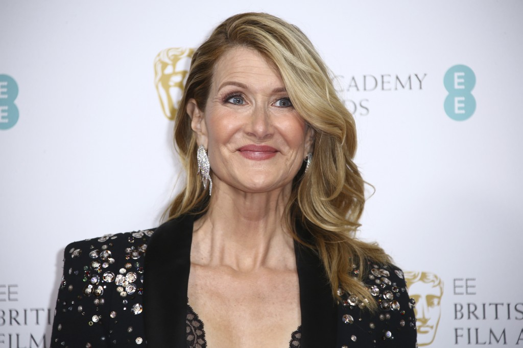 Actress Laura Dern poses for photographers upon arrival at the Bafta Nominees Party, in central London, Saturday, Feb. 1, 2020. (Photo by Joel C Ryan/...
