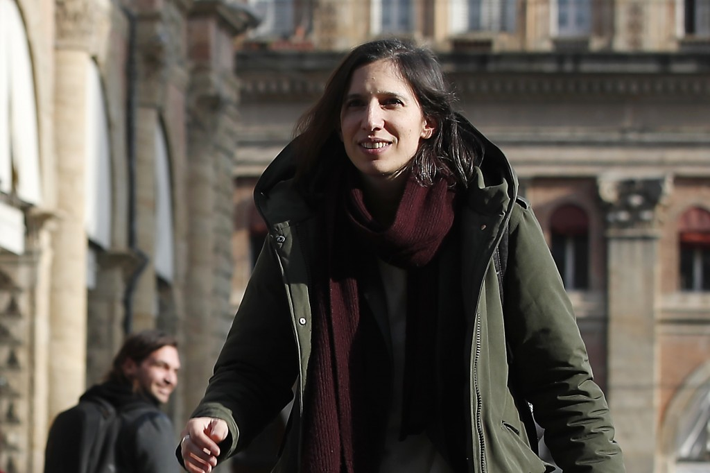 In this photo taken on Thursday, Jan. 30, 2020, Elly Schlein walks on a street after an interview with the Associated Press in downtown Bologna, Italy...