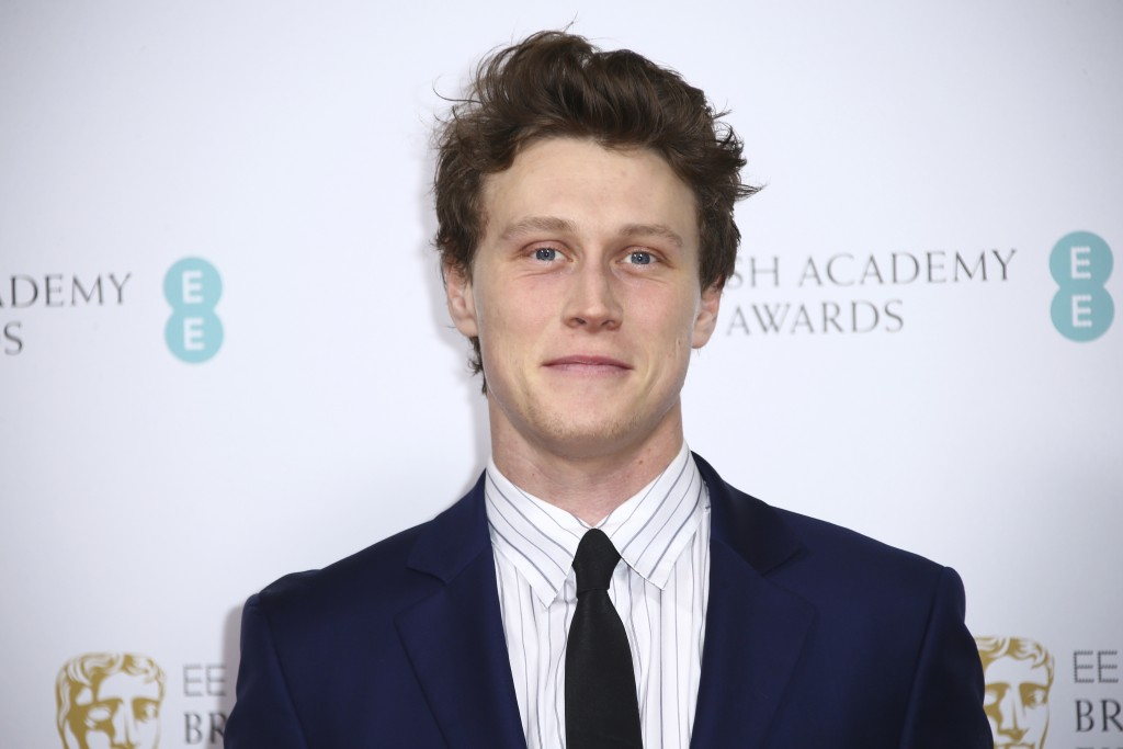 Actor George MacKay poses for photographers upon arrival at the Bafta Nominees Party, in central London, Saturday, Feb. 1, 2020. (Photo by Joel C Ryan...