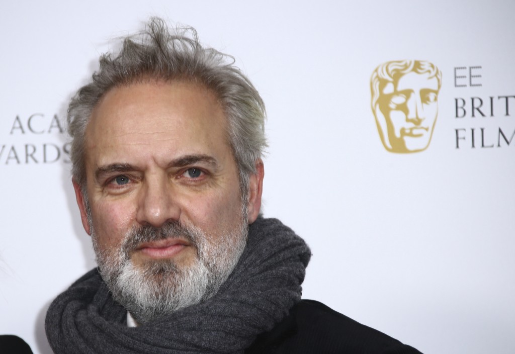 Director Sam Mendes poses for photographers upon arrival at the Bafta Nominees Party, in central London, Saturday, Feb. 1, 2020. (Photo by Joel C Ryan...