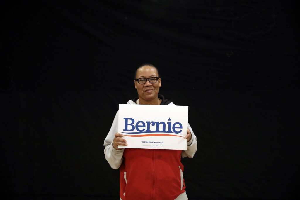 In this Jan. 25, 2020, photo, Rashanda Holts poses for a portrait at a campaign event for Democratic presidential candidate Sen. Bernie Sanders, I-Vt....