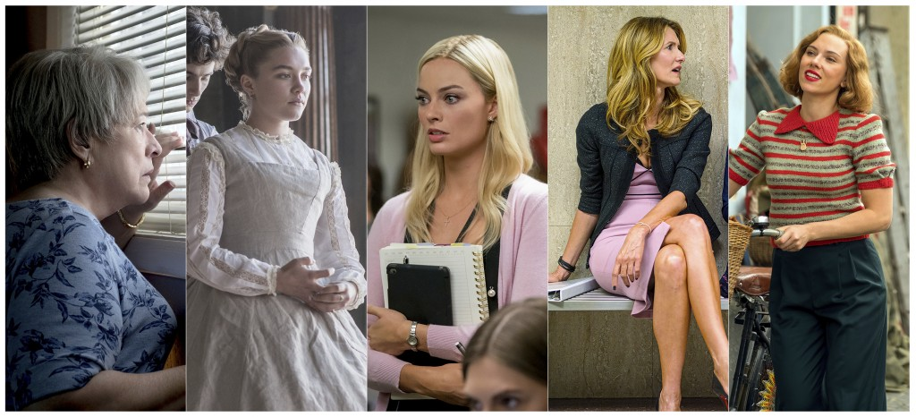 """This combination of photos shows best supporting actress Oscar nominees, from left, Kathy Bates in """"Richard Jewell,"""" Florence Pugh in """"Little Women,"""" ..."""