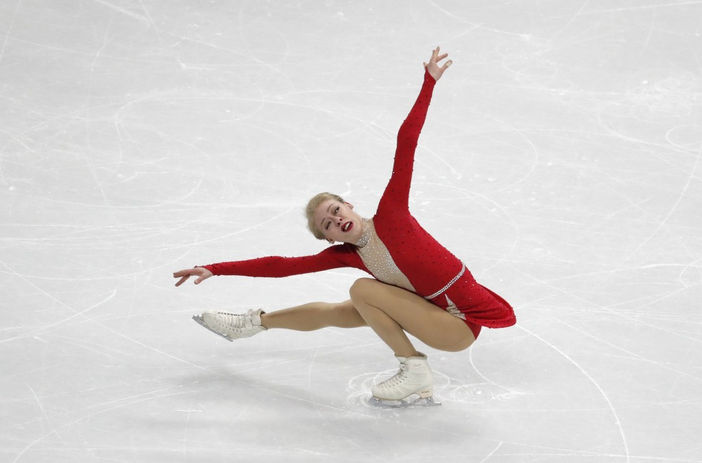 United States' Bradie Tennell performs during the ladies' single short program competition in the ISU Four Continents Figure Skating Championships in ...
