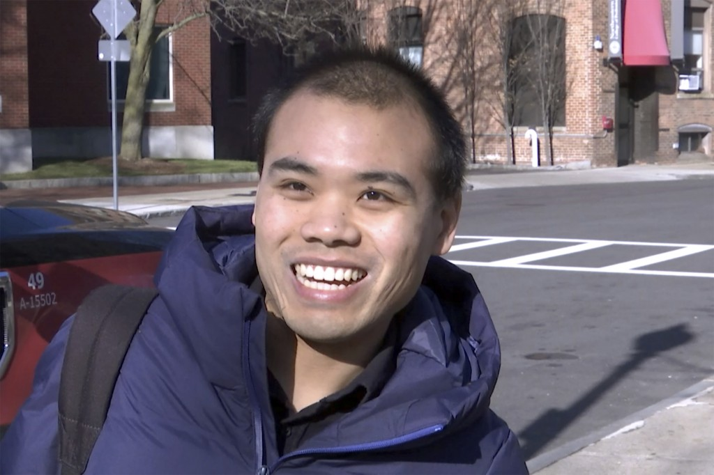 In this Jan. 31, 2019, photo, Lele Luan talks during an interview on the Northeastern University campus in Boston. As concerns about China's virus out...