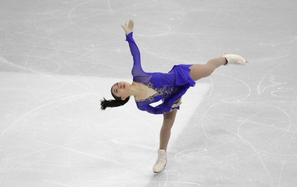 Japan's Rika Kihira performs during the ladies' single short program competition in the ISU Four Continents Figure Skating Championships in Seoul, Sou...