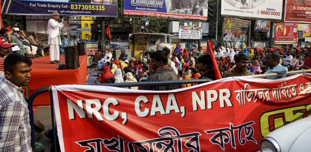 Supporters of Communist Party of India (Marxist-Leninist) Red Star attend a protest against a new citizenship law that opponents say threatens India's...