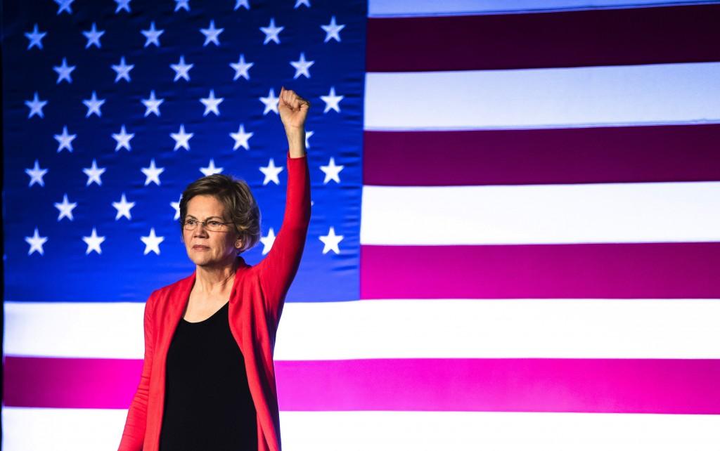 Democratic presidential candidate Sen. Elizabeth Warren, D-Mass., speaks during a campaign event, Thursday, Feb. 6, 2020, in Derry, N.H. (AP Photo/Mat...