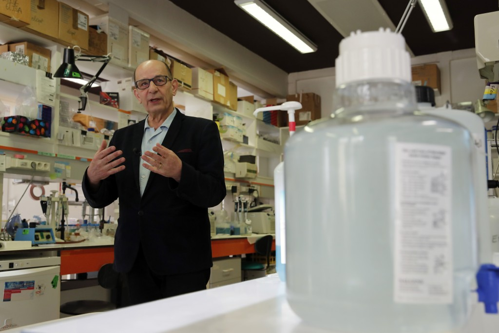Frederic Tangy, Head of the vaccine innovation department talks during an interview at Pasteur Institute in Paris, Thursday, Feb. 6, 2020. Scientists ...
